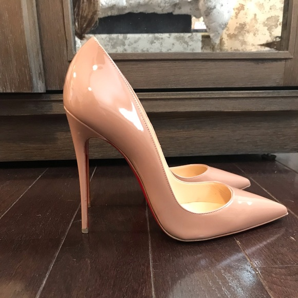 watch e1fff 9eaaf Christian Louboutin So Kate 120 pumps- nude patent